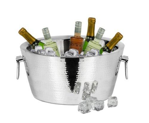 Edzard Sektkühler - Champagnerkühler - ONTARIO - gehämmert - poliert Ø 38 cm