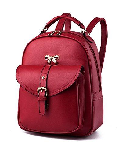 neuer Stil Schulrucksäcke/Rucksack Damen/Mädchen Vintage Schule Rucksäcke mit Moderner Streifen für Teens Jungen Studenten Rot Keshi Vh4Edta7J2