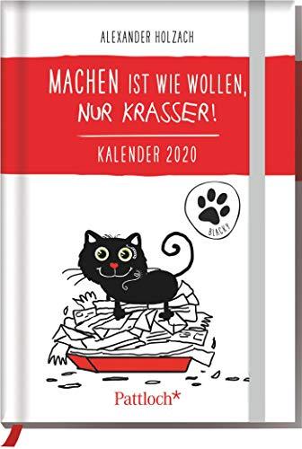 Blacky: Machen ist wie wollen, nur krasser - Taschenkalender 2020: Terminkalender m. Wochenkalendarium, Ferientermine & Jahresübersichten 2020/2021, ... Gummi- u. Leseband, 10,0 x 14,5 cm