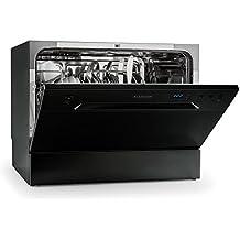 Klarstein Amazonia 6 lavavajillas A+ (1.380 W, 6 cubiertos, 6 programas de limpieza, 49 dB) - negro