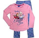 Frozen - Die Eiskönigin Mädchen Schlafanzug ELSA Pyjama (Blau-Rosa, 122-128)