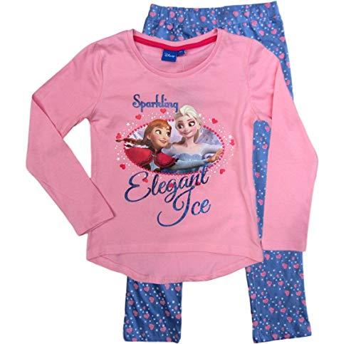 Frozen - Die Eiskönigin Mädchen Schlafanzug ELSA (Blau-Rosa, 104-110)
