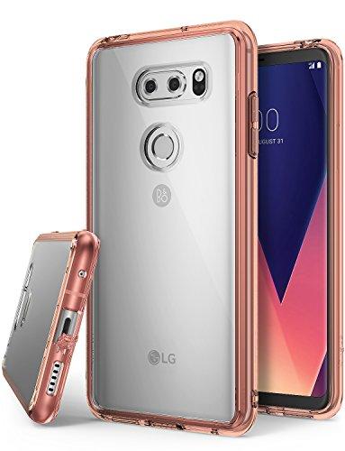 Ringke LG V30, LG V30 Plus, LG V30S ThinQ Hülle, Fusion Case PC TPU Bumper Handyhülle Schock Absorbtions Technologie für LG V 30, V 30 Plus, V 30 S ThinQ Panzer Cover - Rose Gold