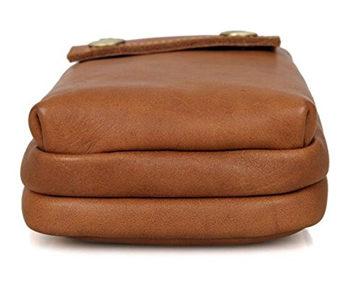 MeiliYH Herren Leder Taschen Retro Freizeit Erste Schicht aus Leder Taschen für Männer Hellbraun