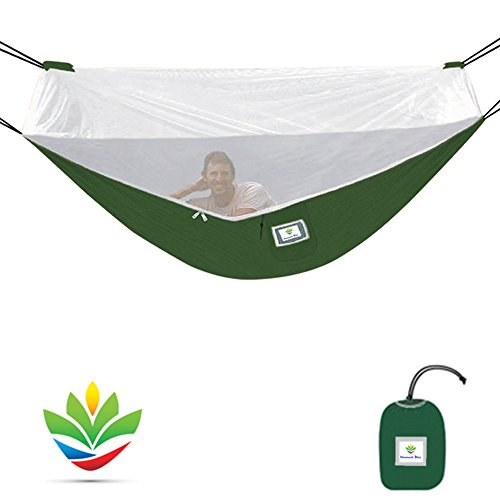 Hammock Bliss Mosquito Free Portable Bug Free Hammock - 250 cm Rope Included Per Side - Fully Reversible - Ideal Hammock Tent for Camping, Backpacking, Kayaking & Travel - Eno Net Hängematte