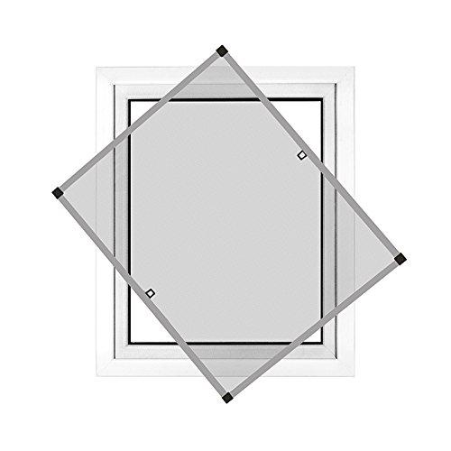 JAROLIFT Insektenschutz Spannrahmen Profi Line für Fenster, Rahmengröße 60cm x 150cm silber - ohne Bohren montierbar