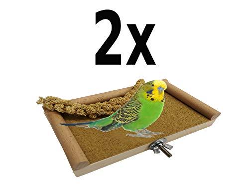 zbrett, Käfig Zubehör Barsch Plattform für Wellensittiche, Finken, Papageien! Dübelholz. Für die Ewigkeit gebaut. Es Wird in jedem Käfig großartig Aussehen! ()