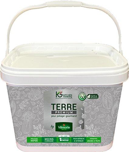 KG BY VILMORIN 8300101 Terre Premium Potager, Terreau, 28 x 24.5 x 22 cm