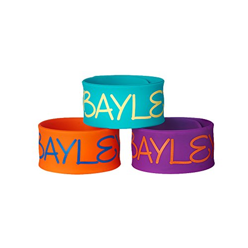 WWE Bayley 3-Teilig Slap Armband Set Blau/Orange/Violett, Herren, Blue/Orange/Purple, Girls - Wwe-ausrüstung