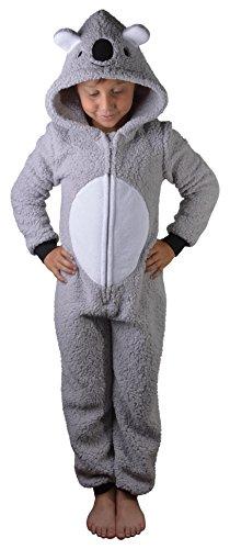 Damen Loungeable 3D Animal Anzug mit Kapuze, Grau Alter 13-14