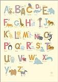 Poster 30 x 40 cm: Tieralphabet für den Kindergarten von Petit Griffin - hochwertiger Kunstdruck, Kunstposter
