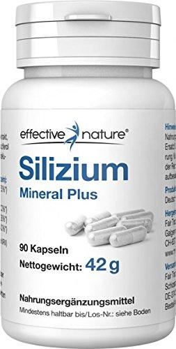 Silizium Mineral Plus - mit Magnesium, Zink, Eisen und Vitamin D3 - 90 vegane Kapseln aus Bambusextrakt - Mineral Eisen