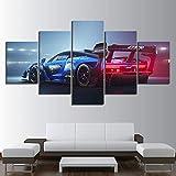 HXZFF Bilder 150x80 cm - Leinwandbilder - Kein Rahmen - Vlies Leinwand - 5 Teilig - Wandbilder - Kunstdrucke - Wandbild - Rennauto