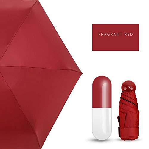 TWSJHGFV Mini cápsula Mujer Paraguas Bolsillo Transparente