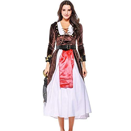 ASDF Halloween-Kostüme, Piratenkostüme, Spielanzüge für Damen, mittelalterliche Cos-Kostüme