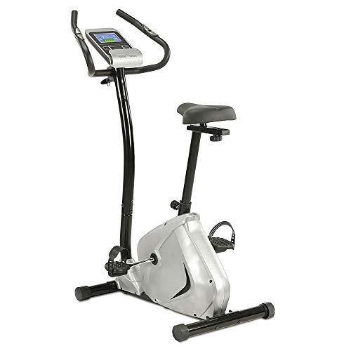 maxVitalis Ergometer, Heimtrainer mit LCD-Trainingscomputer, Handpulssensoren u. 24 Widerstandsstufen, Fitnessbike für gelenkschonendes Cardio- u. Muskeltraining, Stärkung des Herz-Kreislaufsystems
