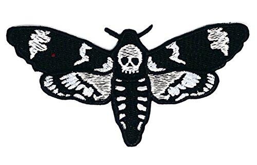 Schwarz Schmetterling Insekten Boho Hippie Retro Love Peace Patch Bestickt DIY Patches, niedliche Applikation Nähen Eisen auf Kinder Craft Patch für Taschen Jacken Jeans Kleidung (Bestickt Hippie Rock)
