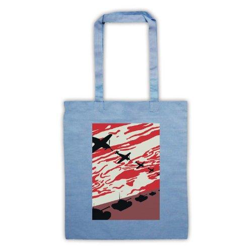 WW2 Spitfire & serbatoi Tote Bag Azzurro