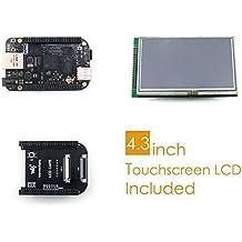 Waveshare BeagleBone Black Rev C Development Board Kit 512MB DDR3 4GB 8bit eMMC 1GHz ARM Cortex-A8 Mini Computer+ 4.3inch LCD Screen + LCD Cape + Cables