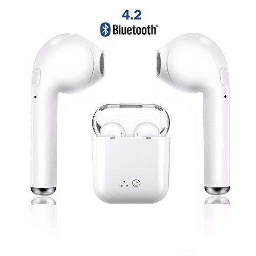 Auriculares Bluetooth, Auriculares inalámbricos Auriculares estéreo Auriculares deportivos inalámbricos Compatible con iPhone de Apple 8 X 7 7 Plus 6S 6S Plus y Samsung Galaxy S7 S8 S8 Plus, teléfonos inteligentes Android