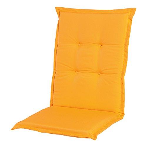 Adlatus-Kühnemuth - Gartenstuhlauflage - Polsterauflage - Sitzauflage - Classic Dessin 110, Farbe: gelb (Niedriglehner Auflage 96 x 50 cm)