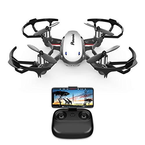 Potensic Drone con Cámara HD, Avión WiFi FPV, Cuadricóptero con Altitud Hold, Sensor de Gravedad, Modo sin Cabeza, Una Tecla de Despeque y Aterrizaje, Regalo para Navidad, D20