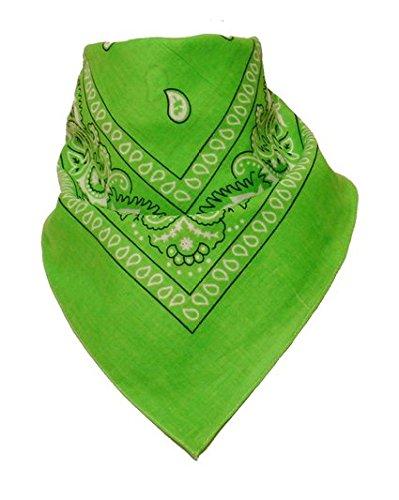 50% di sconto - National Cotton Paisley Bandana Double Sided testa sciarpa dell'involucro Wristband Bandana da Boolavard (Verde)