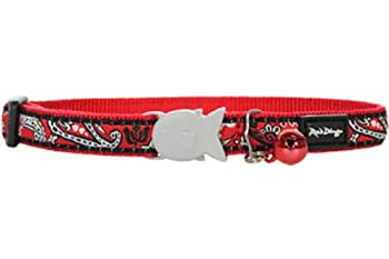 RED DINGO Collier pour Chat Bandana Rouge 20-32 12 mm