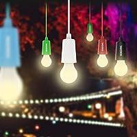 6pcs Lampade LED Lamp Lamps Lanterna da campeggio Lampada ad armadio Lampadina LED multifunzione a sospensione decorazioni natalizie handy lux colors lampadine