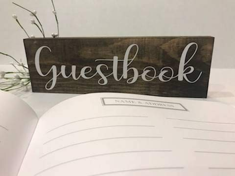 CELYCASY Gästebuch Hochzeitsschild Hochzeitsschild Holz Hochzeitsschilder rustikale Hochzeitsschilder Gästebuch Schild Rustikal Themed Hochzeit