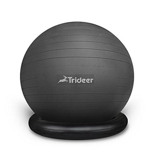 Trideer gymnastick Ball (Ball+Ring Schwarz, L(58-65cm))