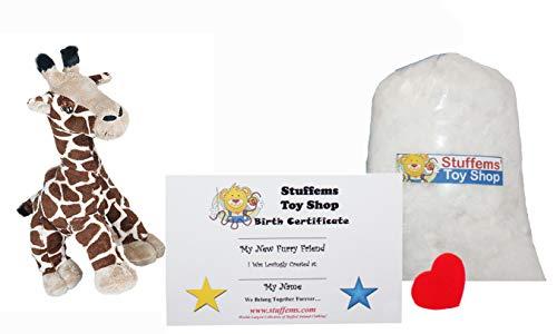Stuffems Toy Shop Erstellen Sie Ihren eigenen Stofftier Mini 8 Zoll Gerry die Giraffe Kit - Kein Nähen erforderlich! -