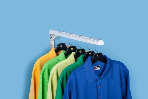 hangerjack Faltbare Aufhänger Aufbewahrung System für Kleidung und Wäsche, Closet Organizer, Garage und Leiter Aufbewahrung, Werkzeug und Verlängerungskabel, und Bike Rack