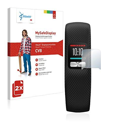 2X Bildschirmschutzfolie CV8 von 3M kompatibel mit Garmin Vivofit 4 Schutzfolie Folie
