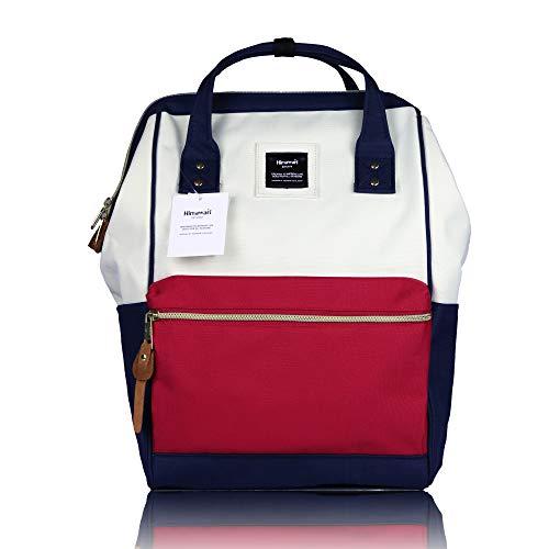 Himawari Rucksack für Schule, wasserdicht, Reisetasche, Vintage, für Damen, 13 Zoll Laptop 37CM Mixed red