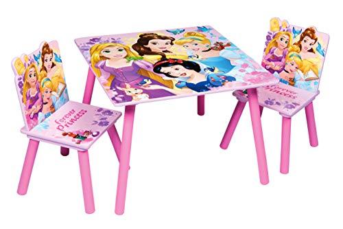 Disney, Princess 48559-S Tischset + 2 Stühle, MDF, Rosa, Einheitsgröße
