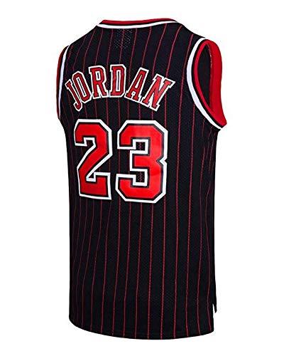 Runvian Camiseta de Baloncesto para Hombre, NBA Michael Jordan, Chicago # 23 Bulls Retro Camiseta de Jugador de Baloncesto Jeysey, Bordado Transpirable y Resistente al Desgaste Camiseta para Fan