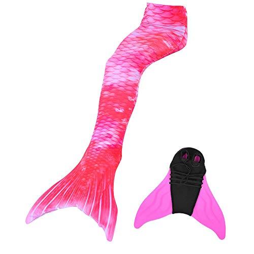 Duosilin Meerjungfrauenschwanz zum Schwimmen mit Meerjungfrau Flosse 110-170cm Höhe