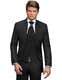 Herren Anzug - 8 teilig - Schwarz Paisley Designer Hochzeitsanzug TOP ANGEBOT PC_02