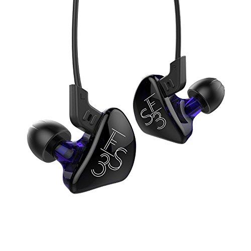 Kz ES31DD + 1BA ibrido cuffie con cavo in-ear cancellazione del rumore HiFi DJ monitor e cuffie con cavo di ricambio Cuffie Purple without Microphone