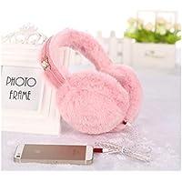 QWhing Gemütlicher Ohrenschützer Schöne warme Ohrenschützer Winter Zubehör Outdoor-Ohrpolster, die Musik hören können (Pink) Ohrenschützer Zubehör