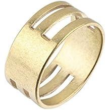 NdB 1124 - Anello Gioielliere per aprire gli anellini tipo per portachiavi - in Metallo - Doppia Faccia - 2 Misure - Taglia Unica - Diametro 1,7cm - Color Bronzo