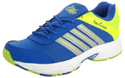 Allen Cooper Men's Blue and Green Running Shoes – 8 UK image - Kerala Online Shopping