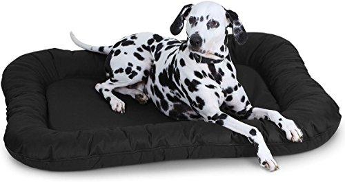 Knuffelwuff Hundebett Wasserfest In und Outdoor Lucky - Größe XL 88 x 73cm Schwarz