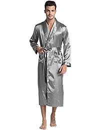 TONY & CANDICE Hommes Classique Longue Satin Robe /Peignoirs de bain