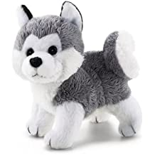 Trudi 51025 Perro de juguete Gris, Color blanco juguete de peluche - juguetes de peluche