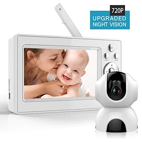 Bable Babyphone avec Caméra, 720P & 5 Pouces Vidéo Moniteur Bébé avec...