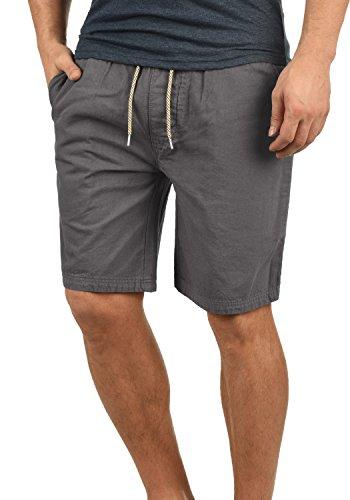 Indicode Aberavon Herren Chino Shorts Bermuda Kurze Hose Aus 100% Baumwolle Regular Fit, Größe:S, Farbe:Grey (905)