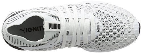 Puma Ignite Netfit, Scarpe Sportive Outdoor Donna Bianco (White-black)