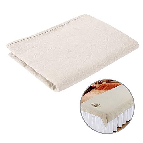 Lenzuolo da salone - lenzuola da massaggio a 8 colori lenzuola spa copridivano morbido copriletto in cotone con foro sul viso(khaki)